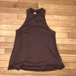 Women's Free People tank top ribbed mock neck